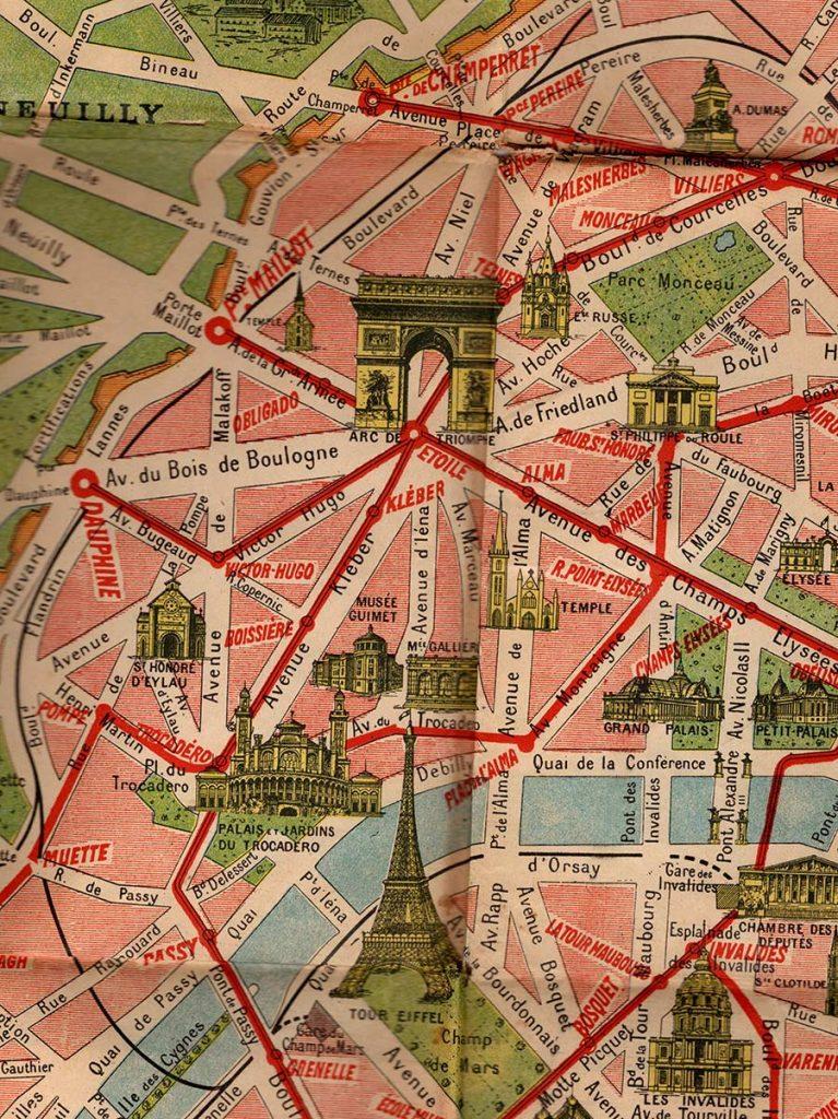 World War One Paris Map Detail 2