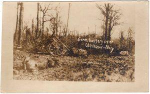 German battery near Chateau-Thiry