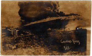 German Fires. Shows a flamethrower