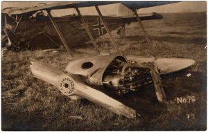 No. 79. Shows a crashed German plane.