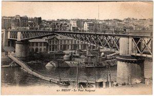 Old Postcard - Brest, France : Le Pont National