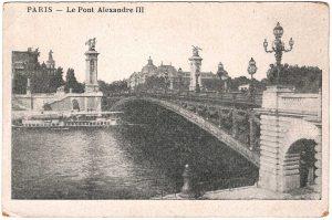 Postcard - Paris: Le Pont Alexandre III