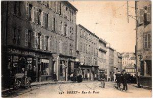 Old Postcard - Brest, France : Rue de Pont