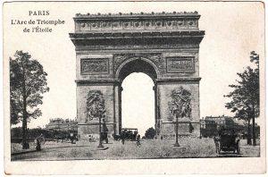 Postcard - Paris: L'Arc de Triomphe de l'Etoile