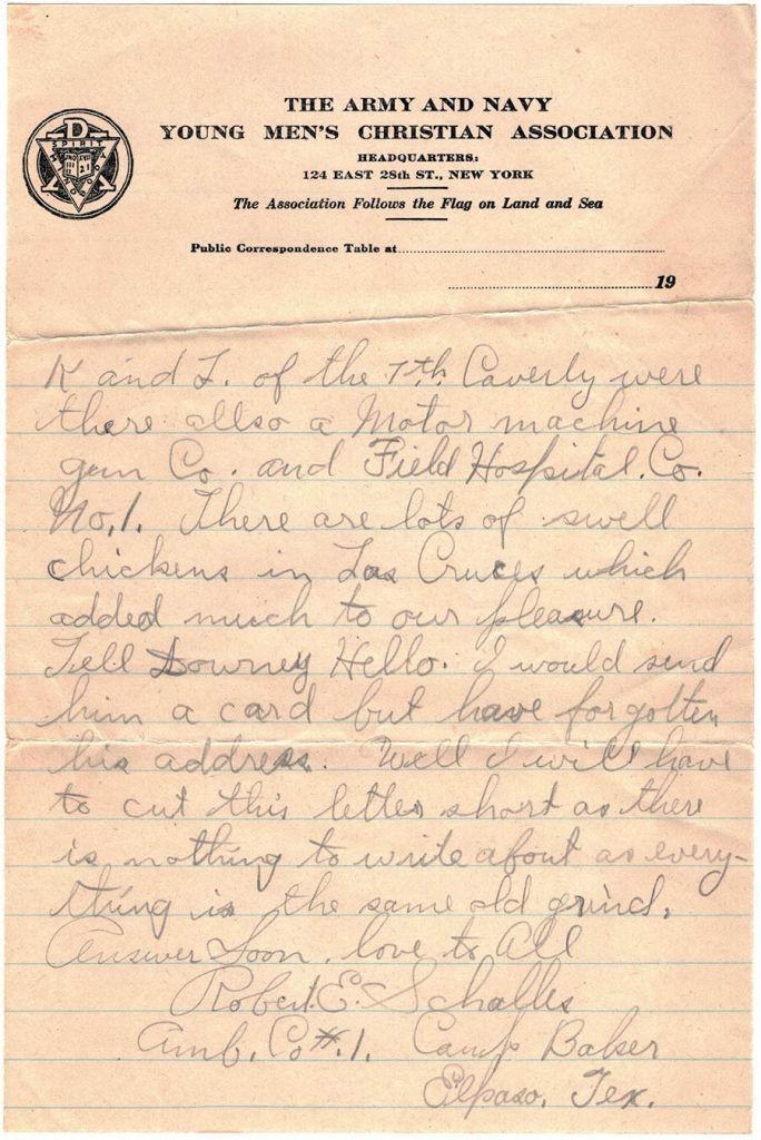 Letter by Robert E. Schalles, September 30, 1917 - page 2