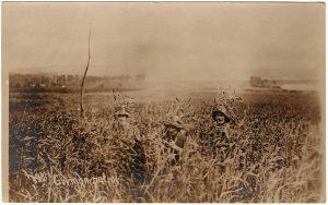 German patrol in corn field