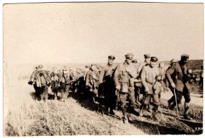 World War One (WWI): Soldiers marching