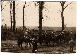 World War One (WWI): soldiers on horseback