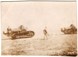World War One (WWI): tanks with soldiers