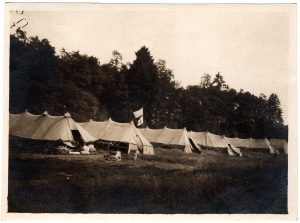 World War One (WWI): rows of big tents