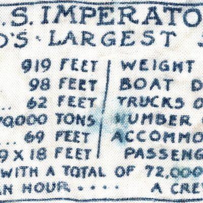 U.S.S. Imperator handkerchief, statistical information