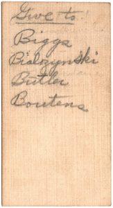 Howard H. Bridgman Back of the Card