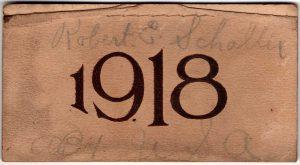 Calendar from 1918