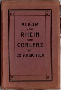 World War One Postcard: Coblenz Germany: Postcard Container Cover Red