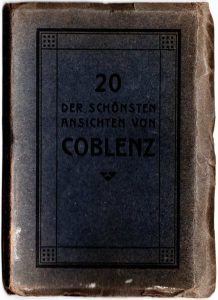 World War One Postcard: Coblenz Germany: Postcard Container Cover Black