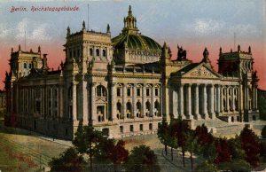 Berlin, World War One Era: Reichstagsgebaude
