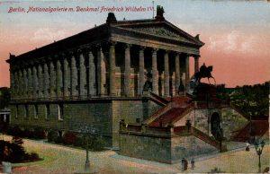 Berlin, World War One Era: Nationalgalerie m. Denkmal Friedrich Wilhelm IV.