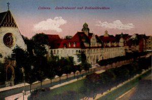 World War One Postcard: Coblenz Germany: Landratsamf und Pofizeidirektion