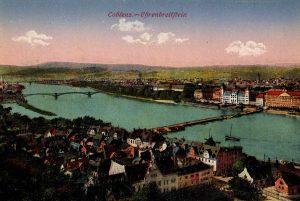 World War One Postcard: Coblenz Germany: Ehrenbreitftein