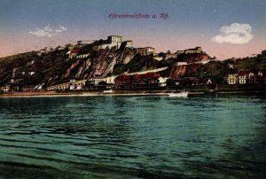 World War One Postcard: Coblenz Germany: Ehrenbreitftein a. Rh.