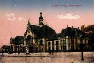 World War One Postcard: Coblenz Germany: a. Rh., Hauptbahnhof.
