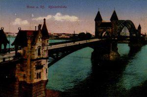 World War One Postcard: Coblenz Germany: Bonn a. Rh. Rheinbrucke.