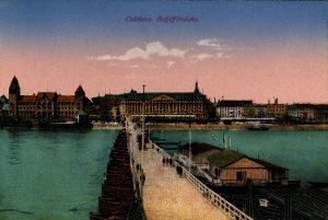 World War One Postcard: Coblenz Germany: Schiffbrucke