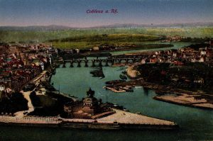 World War One Postcard: Coblenz Germany: a Rh.