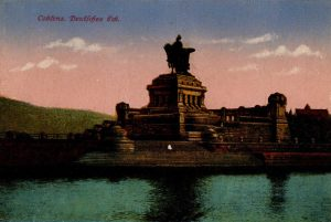 World War One Postcard: Coblenz Germany: Deutfches Eck.