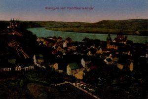 World War One Postcard: Coblenz Germany: Remagen mit Apoffinariskircfje.