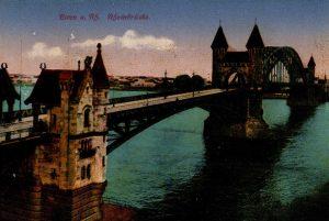 World War One Postcard: Coblenz Germany: Bonn a. Rh. Rfieinbriicke.