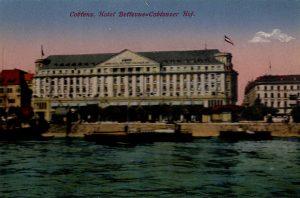 World War One Postcard: Coblenz Germany: Hotel Beffevue Coblenzer Hof.