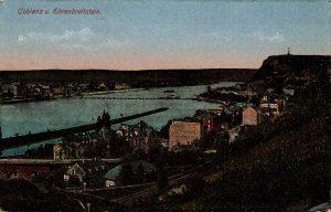 World War One Postcard: Coblenz Germany: U. Ehrenbreitstein