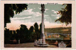 World War One Postcard: Coblenz Germany: Rheinanlagen.