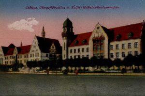 World War One Postcard: Coblenz Germany: Oberpoftdirektion u. Kaifer Wifhefm Reafgymnafium