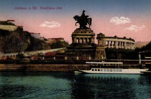 World War One Postcard: Coblenz Germany: a. Rh. Deutfches Eck.