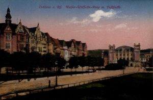 World War One Postcard: Coblenz Germany: a. Rh. Kaifer-Wilhefm Ring m. Fefthaffe