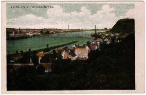 World War One Postcard: Coblenz Germany: Ehrenbreitstein.