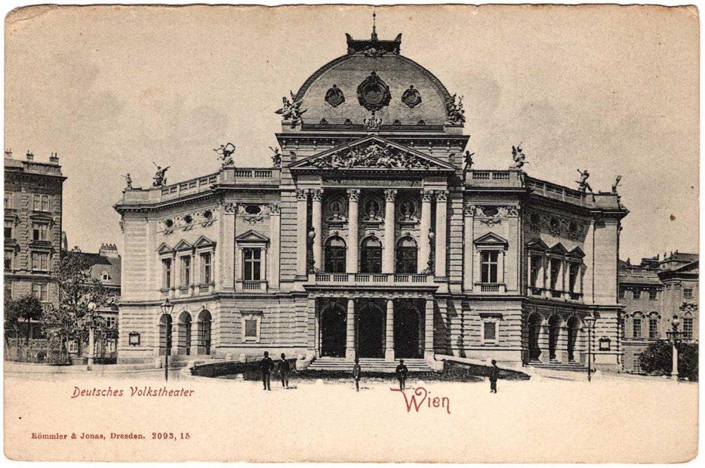 Deutsches Volktheater. Wein. Rommler & Jonas, Dresden. 2093, 15.
